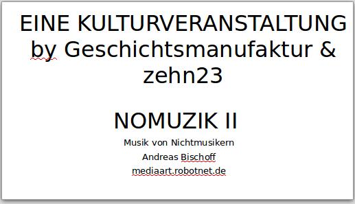 NOMUZIK_II_Folien